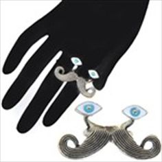 Mustache & Eyes Style Creative Ring Finger Ring Jewelry Collection for Male Female