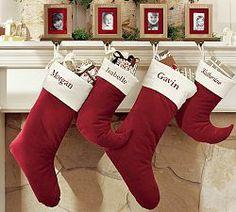 Personalized Christmas Stockings Red Velvet Velvet