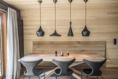 Penthouseappartement Schwendt - Trixl Einrichtung Dining, Homes, Dinner, Meal, Restaurant