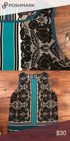 Ann Taylor blouse Beautiful fun sleeveless blouse Ann Taylor Tops