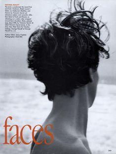 Tatjana Patitz by Herb Ritts - US Vogue May 1991 Ralph Lauren Safari, Tatjana Patitz, Herb Ritts, Liz Claiborne, Natural Beauty, Vogue, Victoria, Romantic, Adventure