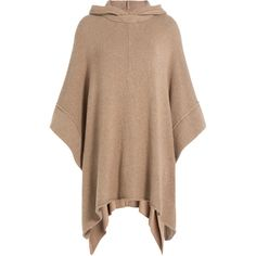 See by Chloé Alpaca-Blend Cape (606 AUD) ❤ liked on Polyvore featuring outerwear, camel, sweater pullover, camel cape, hooded pullover, hooded cape coat and cape coat