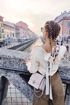 Canal views and braids I Milan: http://www.ohhcouture.com/2017/03/monday-update-45/ #ohhcouture #leoniehanne