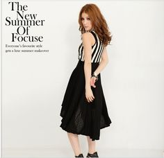 Sleeveless Split Joint High Low Midi Dress