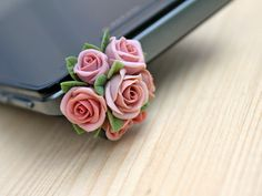 Cell phone dust plug phone accessories handmade by Joyloveclay