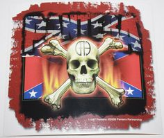 """Rare Vintage Pantera Confederate Skull And Crossbones CFH  LDW:  seller's description states this item is brand new and licensed -- the image's lower right corner shows a copyright statement dated 2000.  So why is it mendaciously listed as """"vintage""""?"""