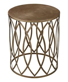 Look at this Gold Leaf Sutton Accent Table on #zulily today!
