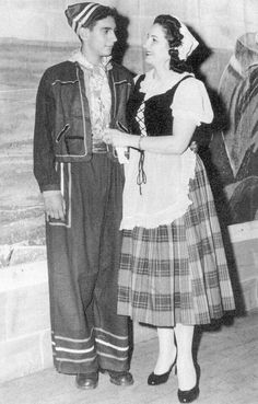 A very young Placido Domingo in performance with his mother, a talented soprano.