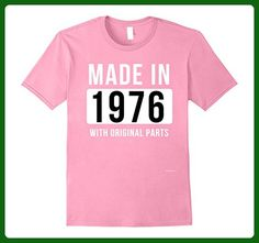 Mens Made in 1976 T Shirt Born in 1976 Shirt Birthday Gifts July 3XL Pink - Birthday shirts (*Amazon Partner-Link)