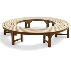 Teak Backless Round Tree Bench, All Garden Benches