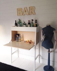 Ikea 'PS 2014' desk as bar @hjsouthwood