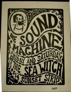Claimed to be the earliest known psychedelic poster originating in the LA area dating to mid to early 1965. The Seawitch was a hip Sunset Strip Club which sprung up along with other clubs such as the Whiskey A-Go-Go, The Trip, The Happening and many others. Great silkscreen design with the Zig-Zag man and if dated correctly, the Zig-Zag man was used long before Mouse and Kelly eventually used it on FD14. If anyone knows more about the history of this poster I would appreciate hearing from…