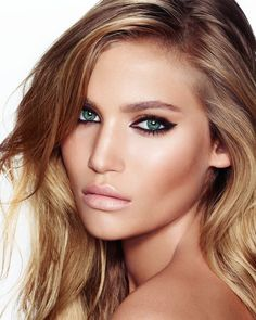 """Charlotte Tilbury: The Rock Chick """"A sexy feline eye with smoky shadows and full mascara—finished off with the perfect nude lip—defines the rock 'n' roll attitude of this look."""""""