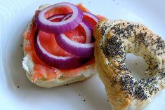 Poppy Seed Hamantaschen Bagels- breakfast for Purim!