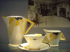 "Eric Slater ""Sunray"" for Shelleys Potteries 1930s"
