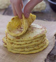 Cauliflower Tortillas Recipe. Low Carb