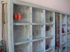 Light blue  aqua jewelry organizer display by CraftersCalendar, $89.00