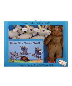 Take a look at this Three Billy Goats Gruff & Troll Finger Puppet Set by The Puppet Company on #zulily today!