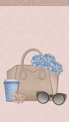 Girly Wallpaper, Apple Wallpaper, Backgrounds Wallpapers, Cute Wallpapers, Cellphone Wallpaper, Iphone Wallpaper, Bag Illustration, Fashion Artwork, Fashion Sketches