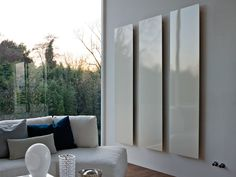 Vertikaler Designheizkörper aus Aluminium Square Kollektion Elements by Tubes Radiatori | Design Ludovica Roberto Palomba