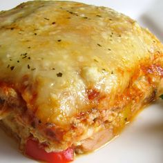 Chicken and Roasted Garlic Lasagna.  Great for using up leftover chicken