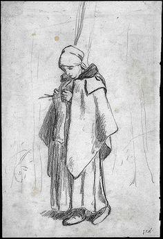 Jean Francois Millet - Shepherdess Knitting - 1854