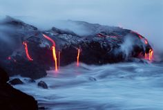Flow Into The Ocean, Lava Photography by G Brad Lewis