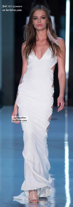 White Cutout Gown - Alexandre Vauthier Couture Fall 2015-16