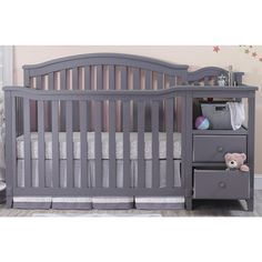All In One Crib With Changer And Storage Drawers. Features Sturdy  Construction In A Durable Painted .