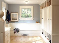Mudroom Lockers with Cabinets to Hide the Clutter