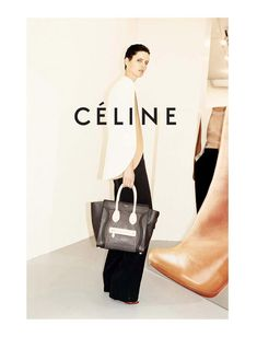 Céline Spring 2011 - the cape, the bag, the trousers.
