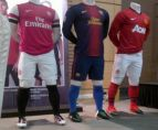 Leaked home-shirts Barcelona, Arsenal and Manchester United (Nike) (?)