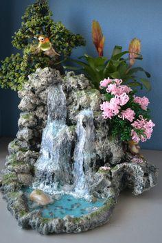 el sanatı inspirational quotes from the bible - Inspirational Quotes Garden Crafts, Garden Art, Bonsai, Mini Waterfall, Branch Decor, Garden Terrarium, Fairy Garden Accessories, Glue Crafts, Seashell Crafts