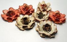 Gardenia flower tutorial, using TH tattered floral die.