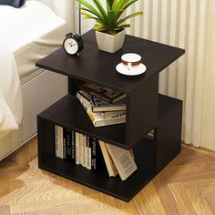 Simple Bedroom Nightstand Living Room Sofa Side Table Tea Table Mini Removable S Small Coffee Table, Modern Coffee Tables, Small Side Tables, Bed In Living Room, Sofa Side Table, Simple Bed, Simple Living, Night Table, Table Storage
