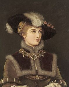 Friedrich August Kaulbach Portrait of a young lady in a fur hat - 1920. Renaissance revival?