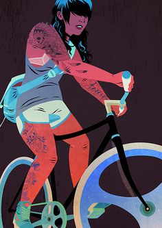 Bicycles & Tattoos (4) by Matthew James Taylor