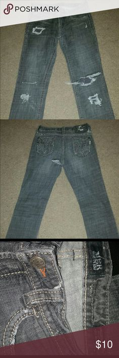 Blue jeans Distressed look blue jeans Jeans Boot Cut