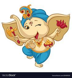 Buy Ganesha Elephant Cartoon Baby Vector Illustration by vectorpouch on GraphicRiver. Ganesha elephant cartoon vector illustration for traditional Hindu festival. Isolated happy baby Ganesha elephant in . Arte Ganesha, Pintura Ganesha, Ganesha Sketch, Ganesha Drawing, Lord Ganesha Paintings, Krishna Painting, Krishna Art, Shri Ganesh, Durga