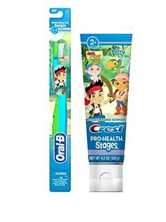 The Oral-B Pro-Health Stages power toothbrush featuring #Jake & The Neverland Pirates gives your own little one a adventurous good smile. #Crest + Oral-B Stages h...
