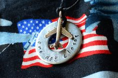One Day Closer metal stamped necklace by DANA ELYSE #military #deployment #long #distance www.operationwearehere.com/deploymentproducts.html