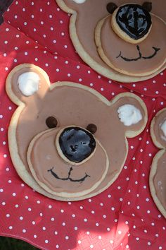 cutest little things: Teddy Bear Picnic, 3d teddy cookies