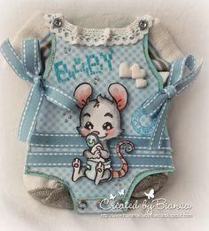 Handmade   by   Bianca: Baby Body Karte mit echten Söckchen, endlich auch ...