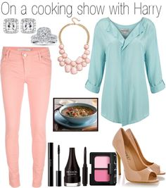 """""""On a cooking show with Harry"""" by onedoutfits269 ❤ liked on Polyvore"""
