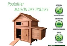 Maison des poules ( poulailler en sapin imputrescible )
