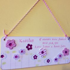 £12 - sign with 3d flowers