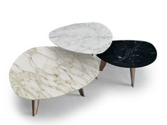 9500 - 40, 41, 42 Marble coffee table by Vibieffe design Gianluigi Landoni