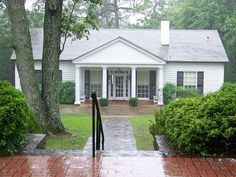Roosevelt's Little White House in Warm Springs, Georgia was FDR's vacation home. Visitors can tour FDR's home, which has been carefully preserved very much as he left it.