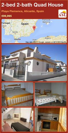 2-bed 2-bath Quad House in Playa Flemenca, Alicante, Spain ►€99,995 #PropertyForSaleInSpain