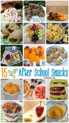 15 Easy, Healthy, and Fun after school snacks ideas!